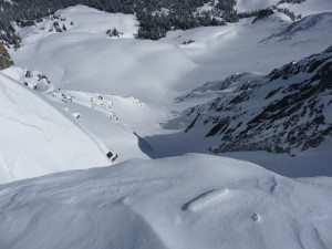 North Facing Couloir on Wilson