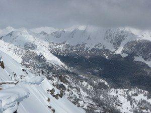 Gallatin Peak in the Clouds - SE