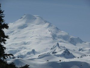 Mt. Baker as seen from the ski area. The Coleman Glacier is on the other side of the mountain.