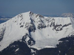 The North Couloir on Fan Mountain