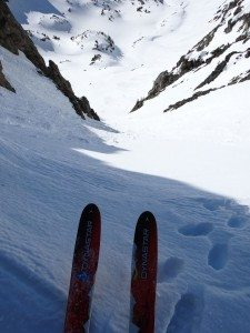 About To Ski The 4th Of July Couloir