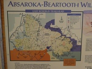 Absaroka-Beartooth Wilderness Trailhead Map