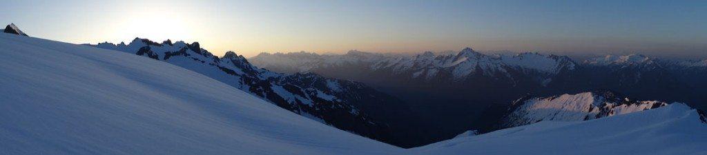 Sunrise over the Cascades