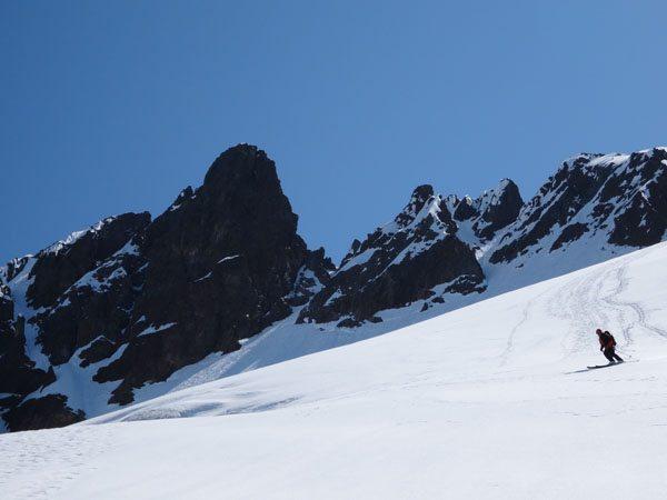 Making turns down the Quien Sabe Glacier