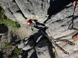 1st Rappel Gallatin Canyon