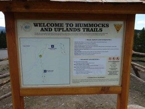 Hummocks and Upland Trail Sign