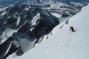 Skiing Grand Teton