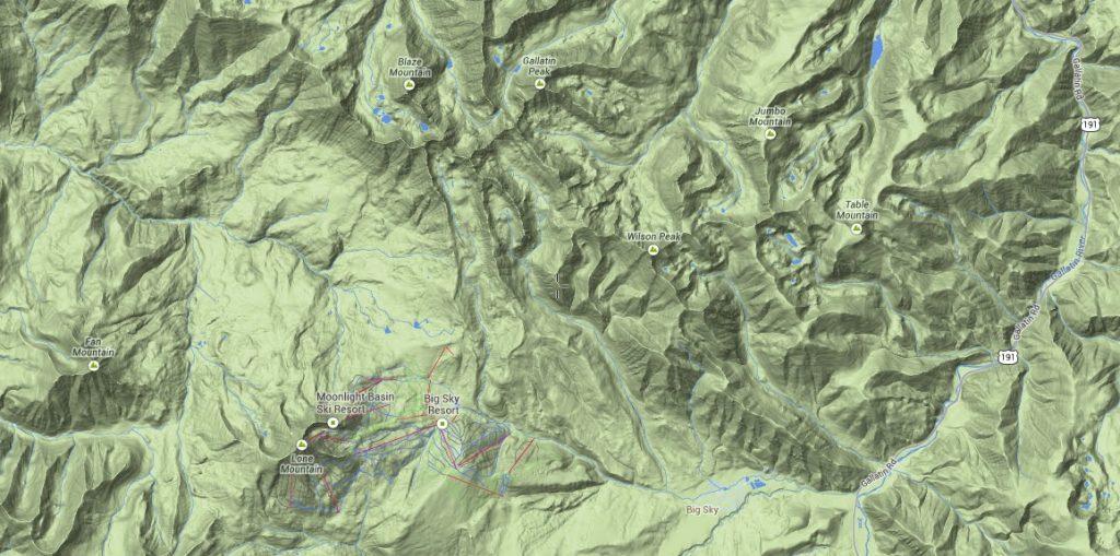 Topo Overview of Madison Range
