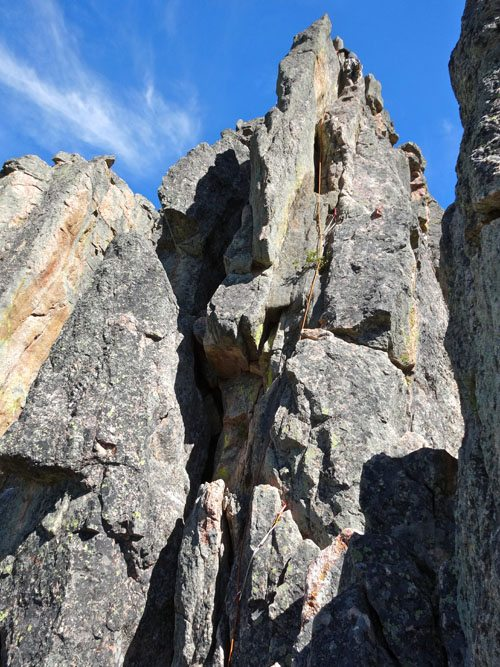 climbing skyline in the gallatin canyon