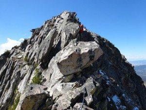 Looking Up East Ridge