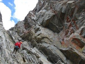 Rappelling The Honecomb Couloir