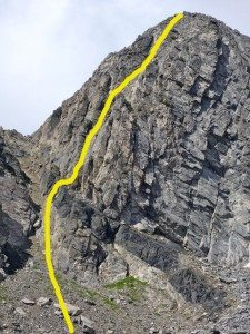 Our Ascent Route
