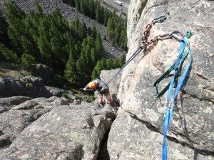 Rappelling Down Pitch 3