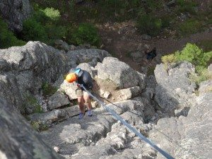 Belay Ledge At Bottom of Pitch 2