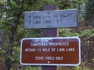 Lava Lake Trail Sign