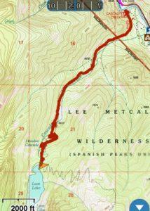 Lava Lake Trail On GaiaGPS