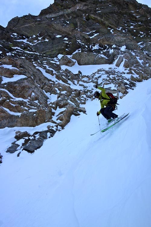 Skiing Apocalypse Couloir GTNP