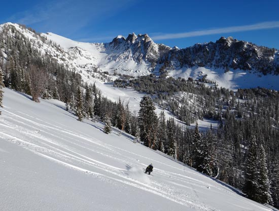 Middle Basin Skiing