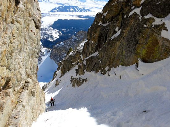 Skiing Sliver Couloir