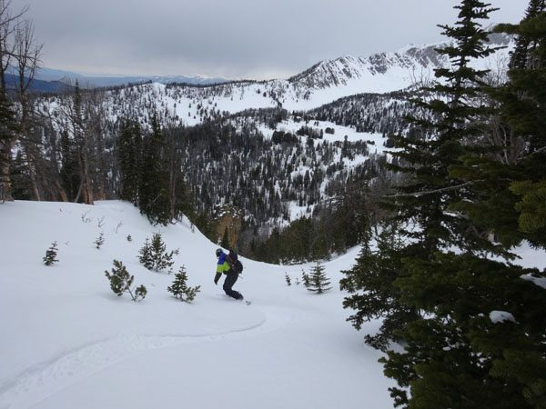 Skiing The Gem, Beehive Basin, Madison Range, Montana
