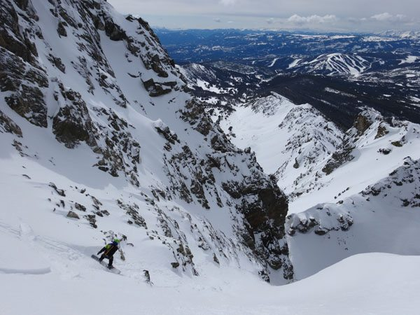 Splitboarding Beehive Peak