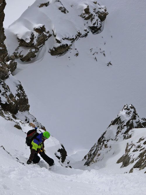 Ski mountaineering descent