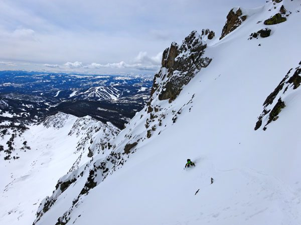 Skiing The 4th of July Couloir