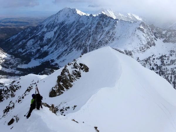 Sketchy Downclimb on Ridge
