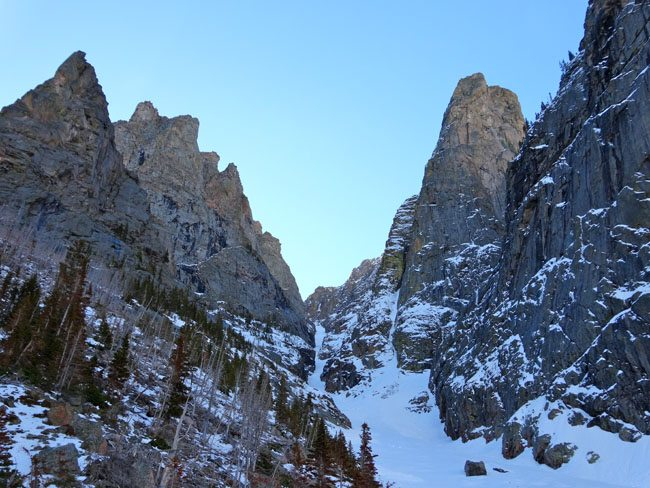 Couloirs in the Beartooths
