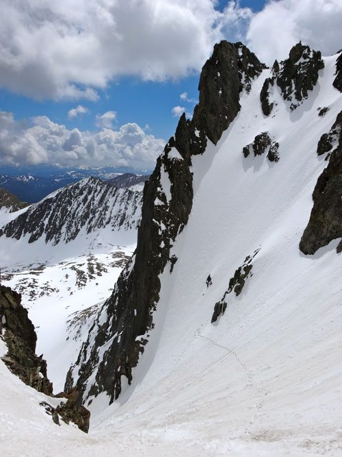 Skiing the Notch on Koch