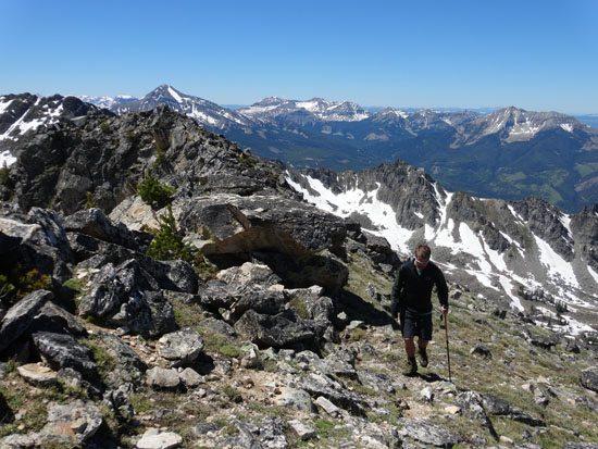 Summit Ridge with Lone Peak, Cedar, and Fan in Distance