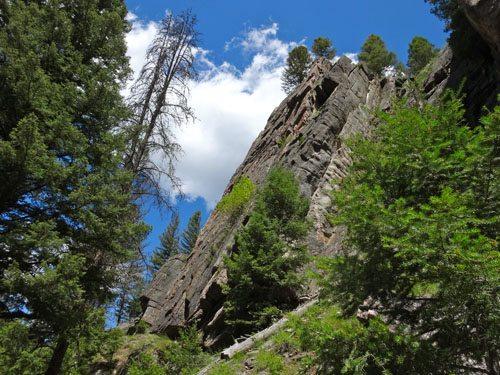CLimbing Gallatin Canyon