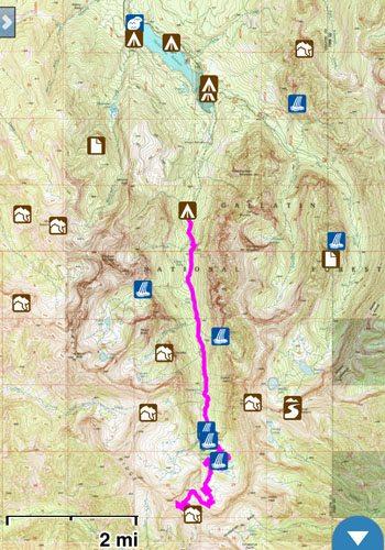 Hyalite Peak Gaia GPS