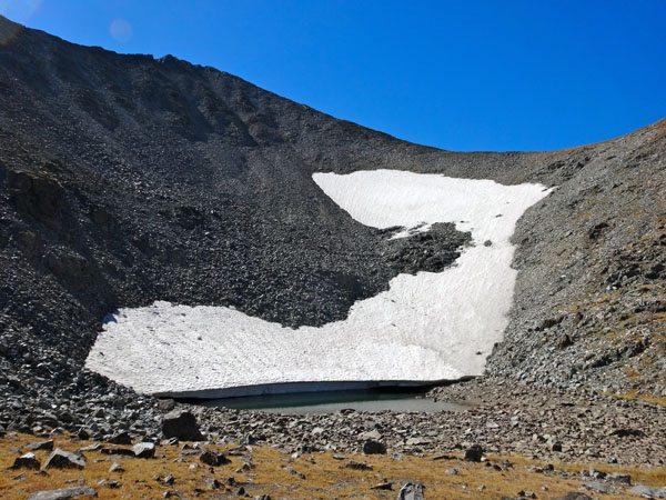 small alpine lake