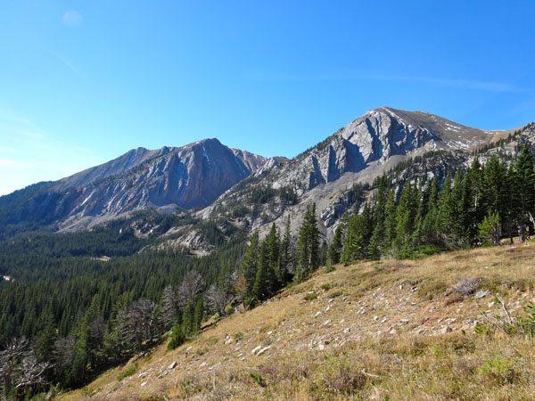 Sacagawea Peak and Peak 9562