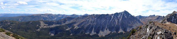 Panoramic of the Spanish Peaks