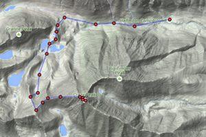 Crazy peak ascent route 2