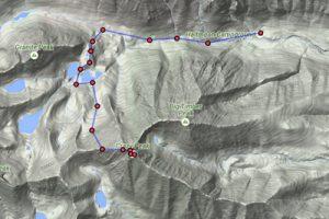 Crazy peak ascent route 1