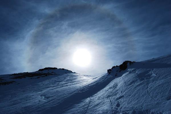 Sun Dog At Ski Arpa, Chile | Photo: Jesse Durrance