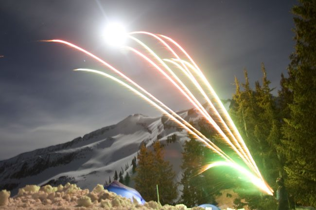Fireworks Near Marble, CO