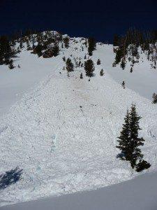 Natural Avalanche Big Sky Montana