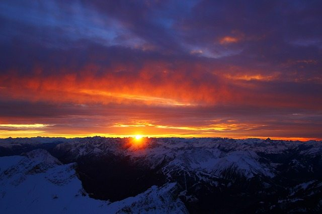 Mountain Sunset - Pixabay