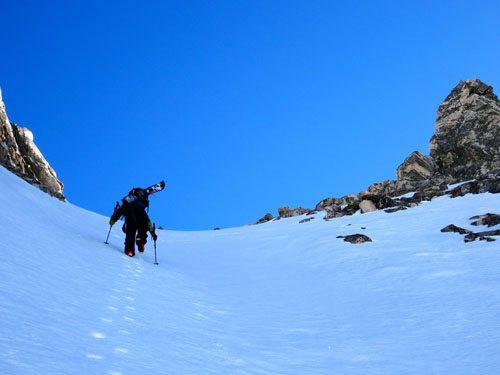 ski boot pack in madison range montana