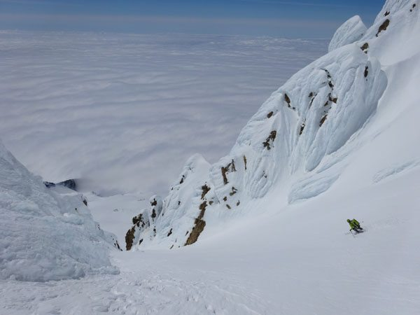 Ski Leuthold Couloir, Mount Hood