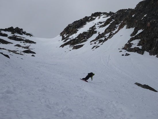 Skiing the Claw Couloir