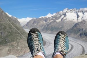 Glacier, climbing shoes pixabay