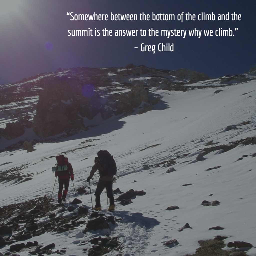 Greg Child Quote with Picture