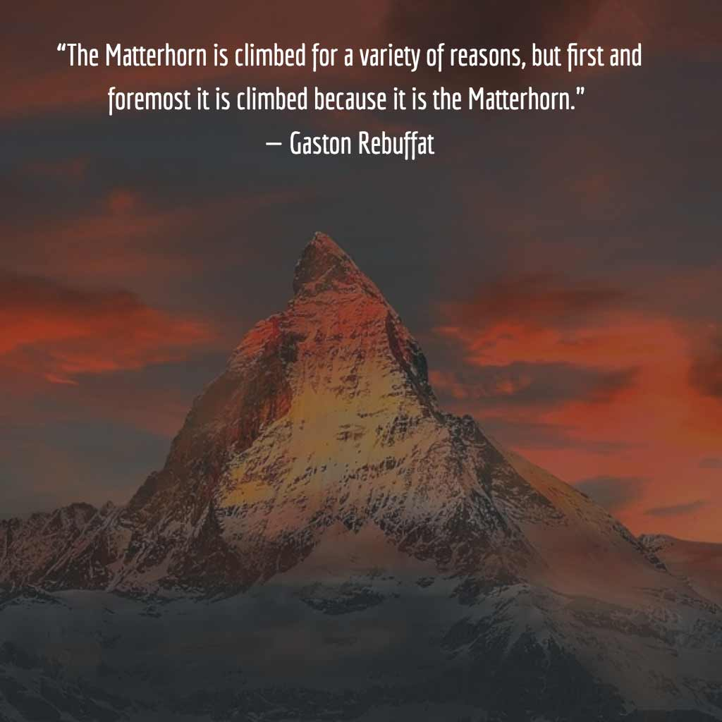 Gaston Rebuffat Quote