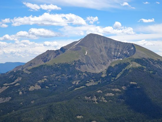 Lost Lake Cirque On Lone Mountain In Summer