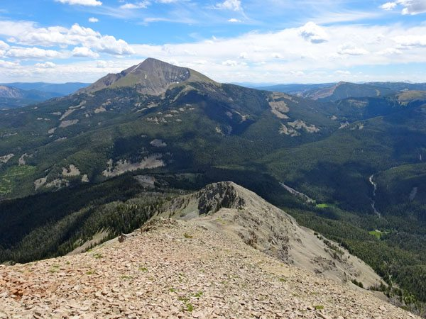Fan Mountains Ridge Line with Lone Mountain in Background